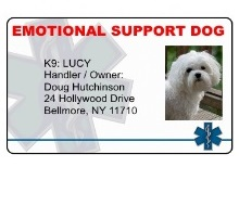 Emotional Support ID Cards