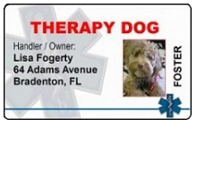 Therapy Dog ID Cards