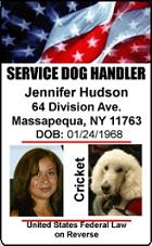 Service Dog Handler ID Badges