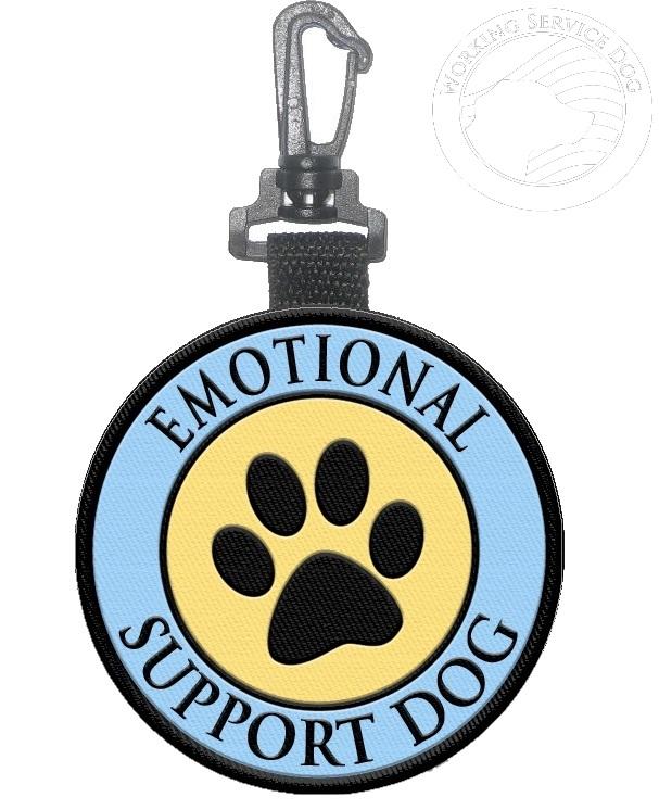 Emotional Support Dog Identification Paw Print Hanging