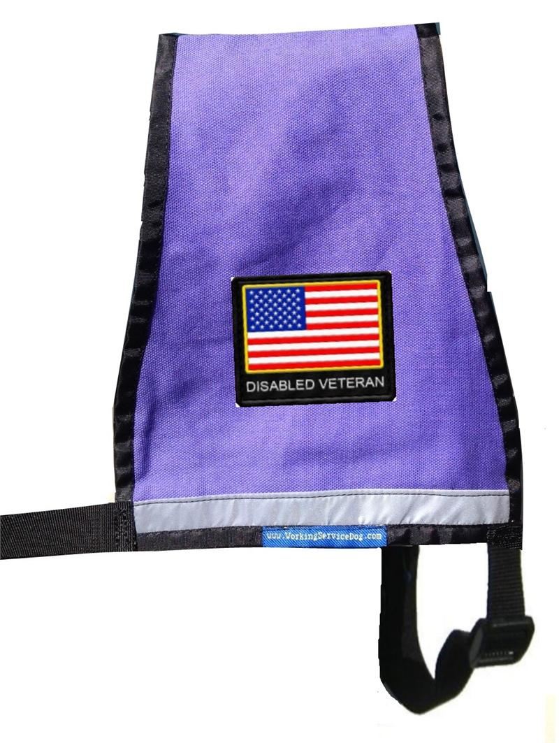 Reflective Disabled Veterans Patriotic Vest With Id Badge