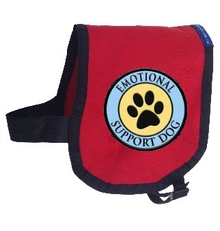 Emotional Support Dog Vest Complete With 2 Paw Print Patches