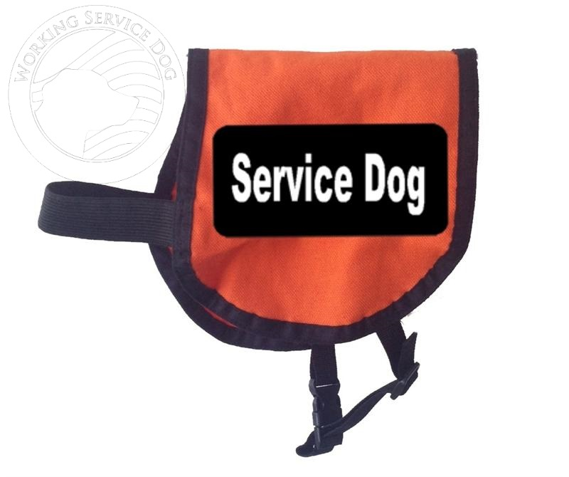Small Service Dog Vest With Black And White Patches