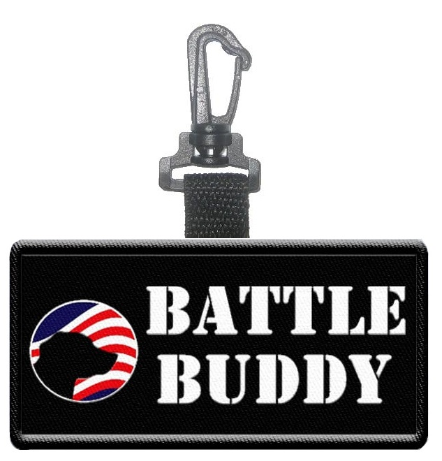 Battle Buddy Hanging Patch Tag Patriotic Patch Tag