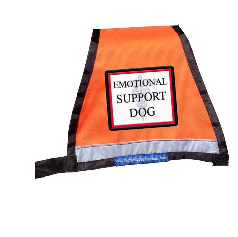 Reflective Emotional Support Dog Vest With Id Badge Holder