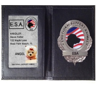 Emotional Support Dog ID Wallet