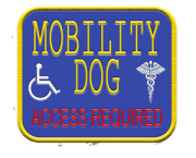 mobility dog access required patch
