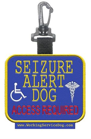 Seizure Alert Dog  Access Required Patch Tag