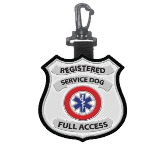 registered service dog patch tag