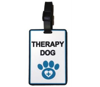 therapy dog id card holder