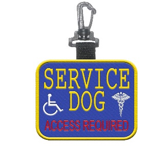 Service Dog Access Required Patch Tag