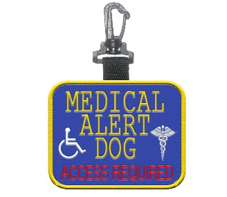 Medical Alert Dog  Access Required Patch Tag