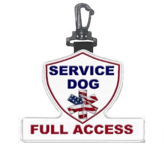 service dog full access patch tag