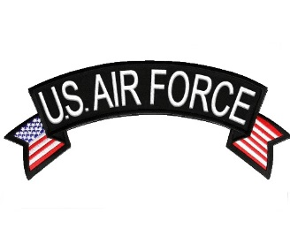 U.S. AIR FORCE Rocker Patch with American Flag