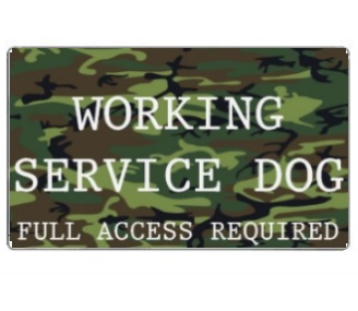 Working Service Dog id card