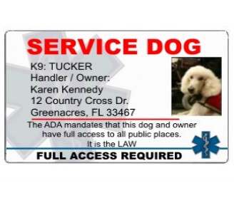 Refreshing image pertaining to free printable service dog id card template