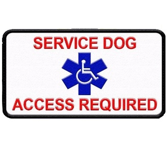 Service Dog Patch  Access Required