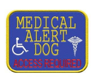 medical alert dog patch