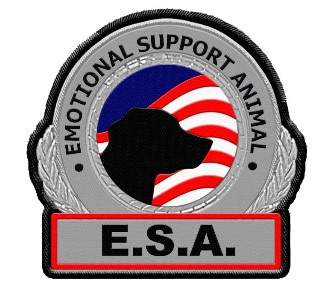 large emotional support animal patch