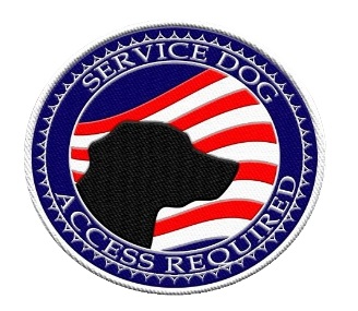 Service dog access required american flag patch