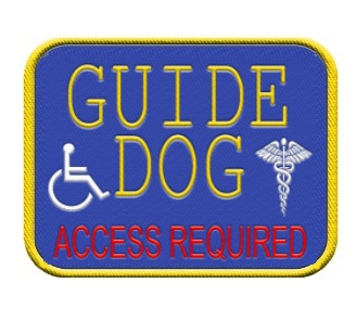 GUIDE SERVICE DOG PATCH