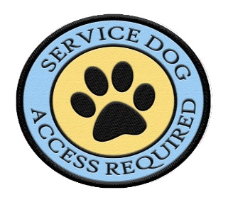 service dog paw print patch