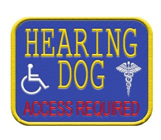 hearing service dog patch