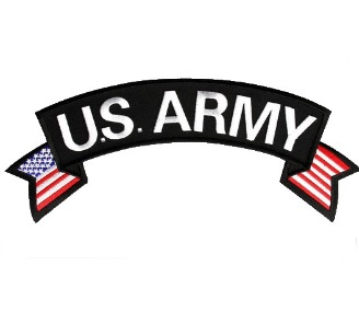U.S. ARMY Rocker Patch with American Flag
