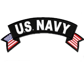 U.S. NAVY Rocker Patch with American Flag