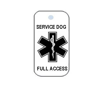 Service Dog Full Access Plastic Collar Tag