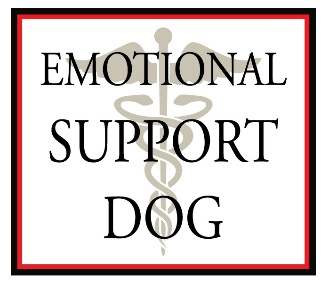 emotional support dog window decal