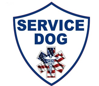 service dog shield window decal