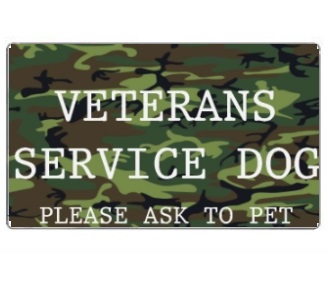 Veterans Service Dog id card