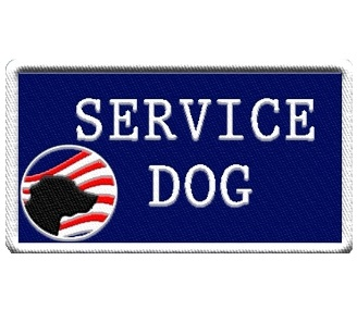 service dog patch with american flag