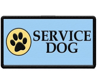 service dog patch with paw print