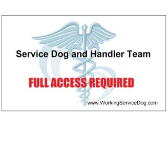 ADA FAA ID CARDS SERVICE DOG