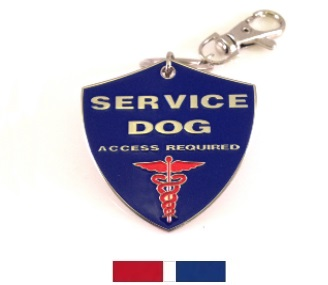 service dog shield tag