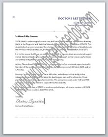 esa sample doctors letter