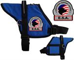 emotional support animal padded vest with patch