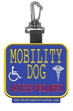 Mobility Dog  Access Required Patch Tag