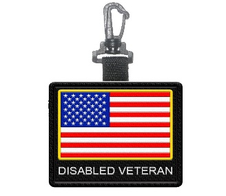 disabled veteran patch tag