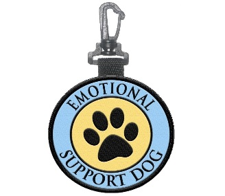 emotional support dog patch tag
