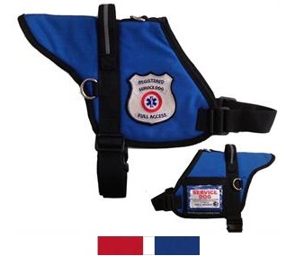 padded registered service dog vest