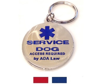 Official Service Dog Tag Small Service Dog Round Id Tag