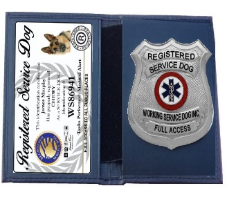 registered service dog badge