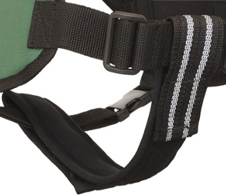 chest to girth strap support dog vest