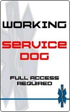 Working Service Dog id badge