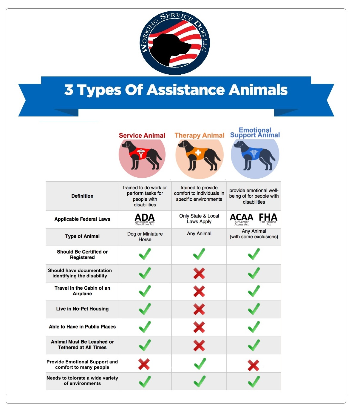 3 Types Of Assistance Animals Service Dog Vs Esa Rights