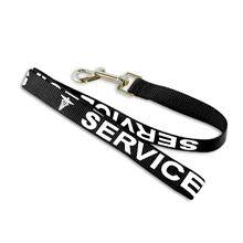 service dog leash with imprinted letters
