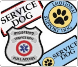 service dog vest patches